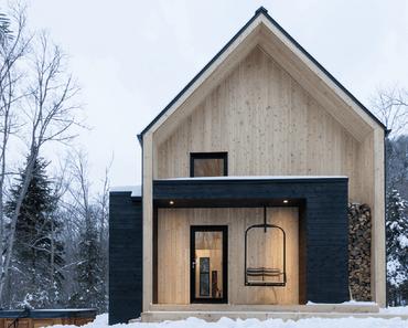 Villa Boréale, une cabane en bois moderne au Québec