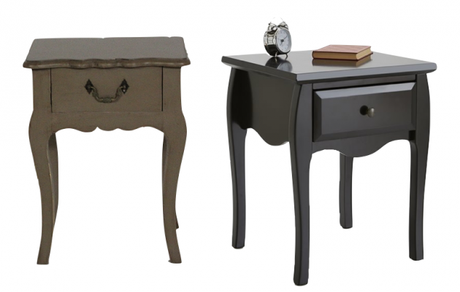la m me table de nuit en moins ch re. Black Bedroom Furniture Sets. Home Design Ideas