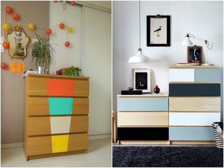 Transformer un meuble ikea la commode malm - Repeindre un meuble ikea ...