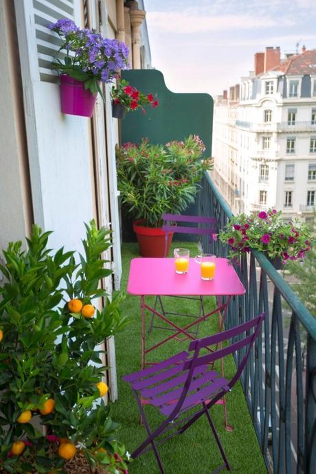 Terrasse ou balcon am nager un coin de verdure en ville - Cacher son balcon ...