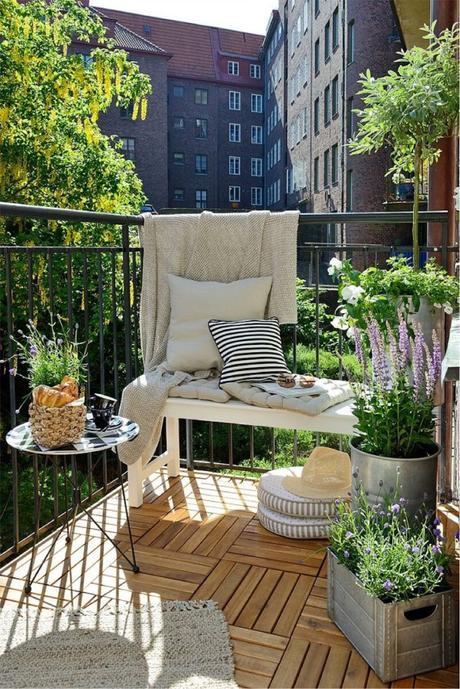 Terrasse ou balcon am nager un coin de verdure en ville - Amenager sa terrasse en ville ...