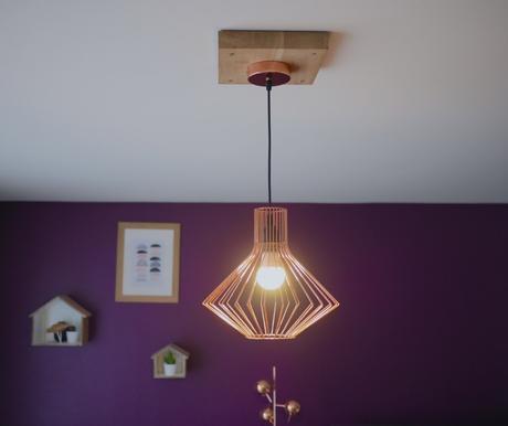 trou trop large au plafond comment nous avons vit le cache fil en plastique. Black Bedroom Furniture Sets. Home Design Ideas