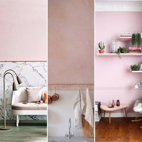 Int grer le rose poudr dans sa d co for Decoration maison rose poudre