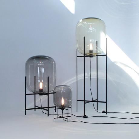 lampadaire design verre