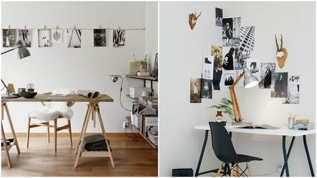 Un bureau dans le salon - Bureau ikea treteaux ...