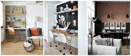 un bureau dans le salon. Black Bedroom Furniture Sets. Home Design Ideas