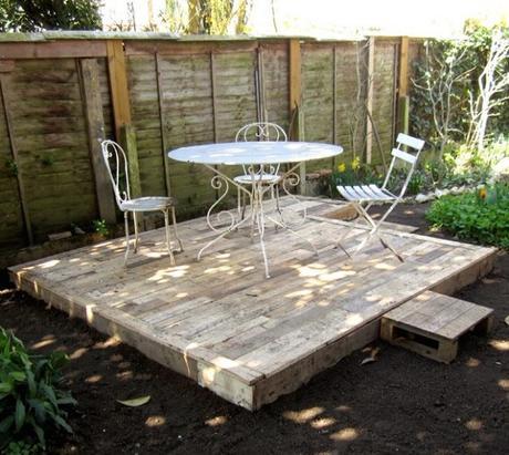 Faire une terrasse en palette - Comment faire une terrasse en palette ...