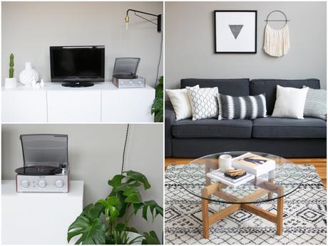 Appartement et salon noir et blanc visite d co - Deco noir et blanc salon ...