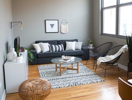 Beautiful deco salon fauteuil noir images for Salon appartement