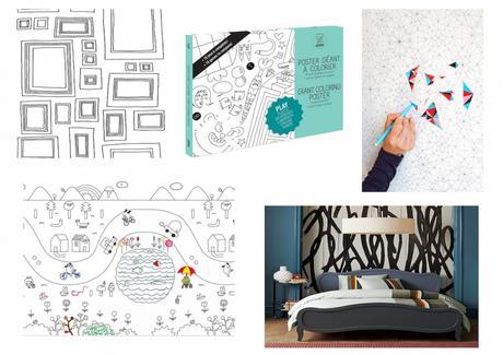 papier peint colorier et personnaliser. Black Bedroom Furniture Sets. Home Design Ideas