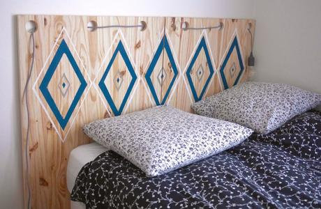 10 id es pour faire soi m me sa t te de lit diy. Black Bedroom Furniture Sets. Home Design Ideas