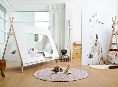 un lit cabane pour une chambre d enfant. Black Bedroom Furniture Sets. Home Design Ideas