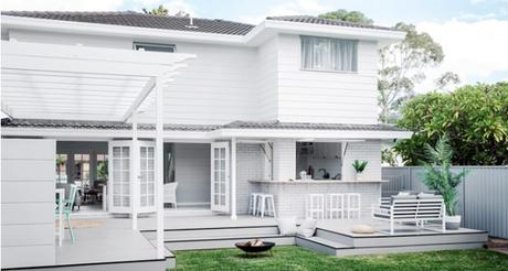 Rénovation bluffante dans l'esprit des Hamptons