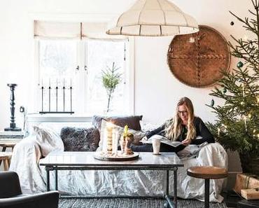 Déco de Noël nature pour maison de charme