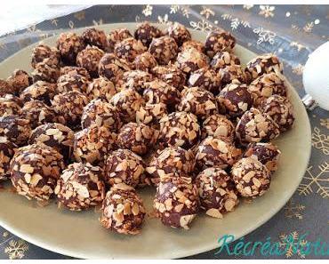 Truffes au Chocolat, Coco, Amande Amère - #Noël #Vegan- Recette Facile
