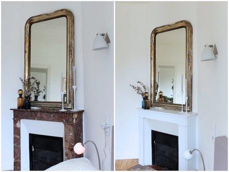 repeindre une chemin e en marbre en brique. Black Bedroom Furniture Sets. Home Design Ideas