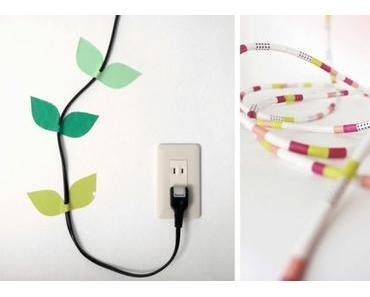 10 astuces pour cacher des fils électriques