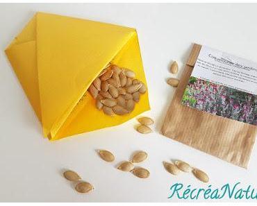 #DIY Sachet à Graines en Origami , pour Echanger vos Semences et Favoriser la #Biodiversité dans vos #Jardins