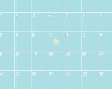 Calendrier d'Avril + Free printables +