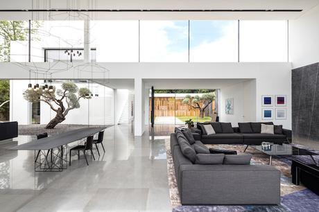 sejour minimaliste maison transparente en verre