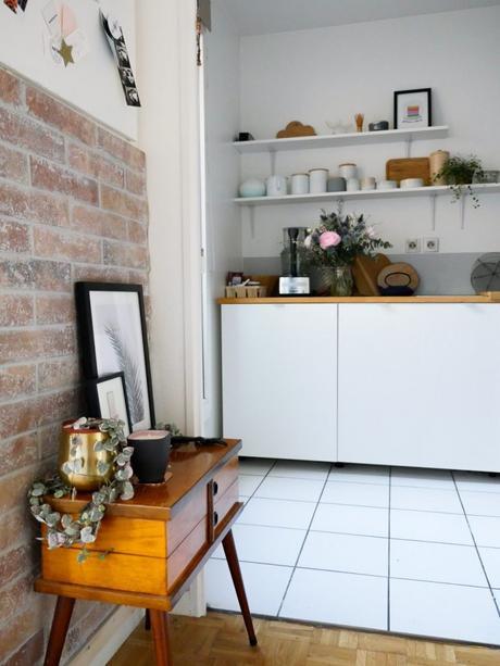 Se laisser séduire par une cuisine en briques d'esprit Wabi sabi