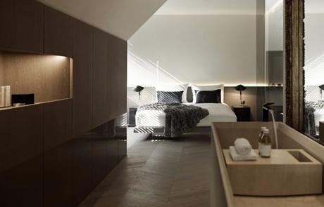 chambre deco minimaliste sous les toits