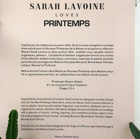 Paris / Le Printemps by Maison Sarah Lavoine /