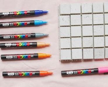 Fabriquer un memory avec des petits carreaux de carrelage