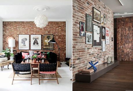 5 mani res de d corer un mur de briques. Black Bedroom Furniture Sets. Home Design Ideas