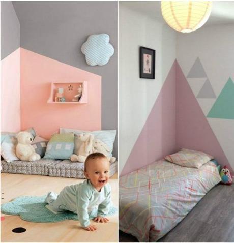 Cr er une tete de lit en peinture 20 inspirations canons - Creer une tete de lit ...