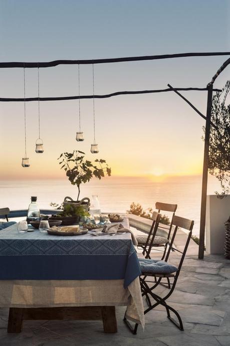 h et m home blog deco table exterieur