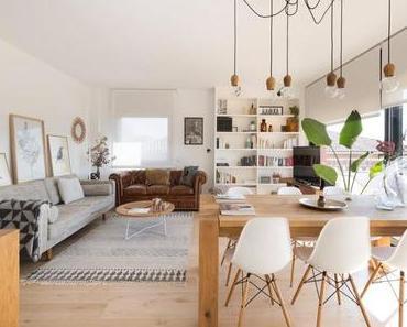 Déco chaleureuse dans un appartement moderne