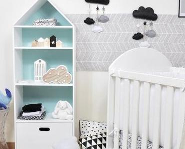 Une déco de chambre bébé en noir et blanc