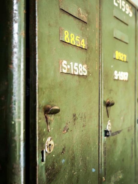 meuble déco industrielle vintage casier écolier rangement