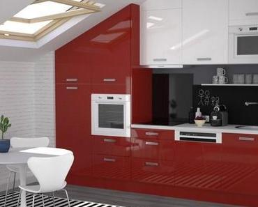Shopping déco pour une cuisine blanche et rouge