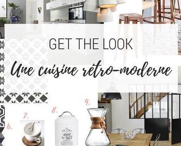 {Get the Look} Une cuisine rétro-moderne avec carreaux de ciment et verrière