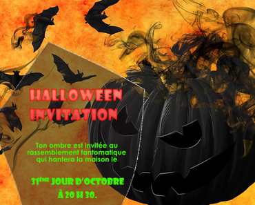 Modèle d'invitation Halloween party & Programme