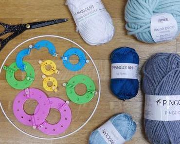 Mobile diy en pompons de laine