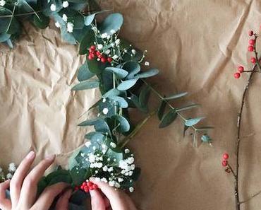10 idées pour des tables de Noel en eucalyptus pour un réveillon Hygge