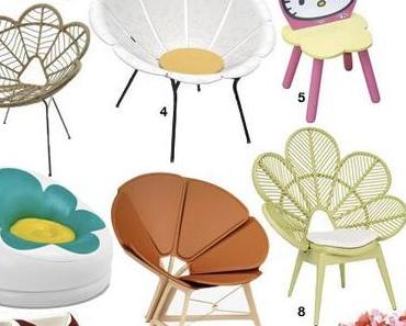 Chaise fleur, fauteuil en forme de fleur : le printemps est là !