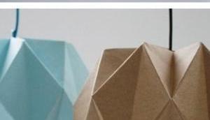 Lampe origami envie fabriquer l'acheter