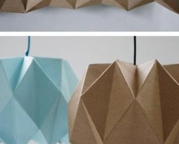 Lampe origami : envie de la fabriquer ou de l'acheter ?