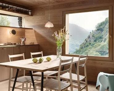 Suisse / Un chalet rustique cache un intérieur contemporain /