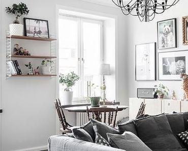 Un appartement à la déco en noir et blanc sobrement original