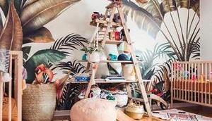 papier peint tropical pour chambre d'enfant