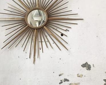 Icône du design français du milieu du XXème siècle : le miroir soleil Chaty Vallauris