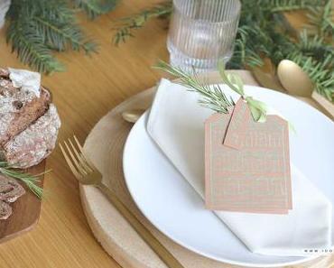 Menu de Noël – DIY facile
