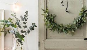 Couronne Noël eucalyptus idées pour déco naturel fait-main