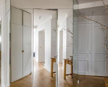 Une décoration délicatement bleue pour un appartement parisien