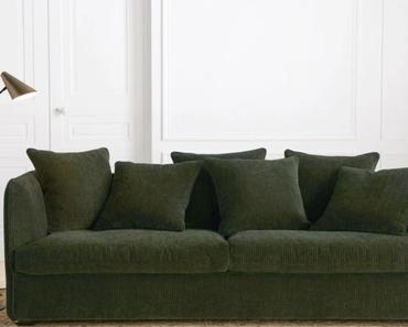 Où trouver un canapé en velours côtelé ?